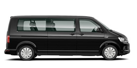 Volkswagen Caravelle 9 seater minibus for hire on Corse